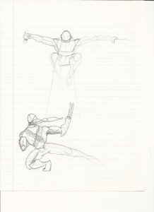 Unfinished Wolverine vs. Cyclops