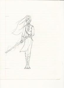 Female Skraith character.